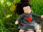 bambola waldorf vestito grigio