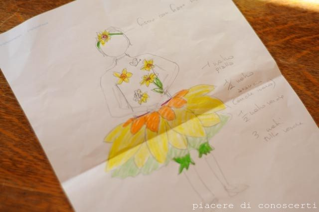 carnevale fiore bambina