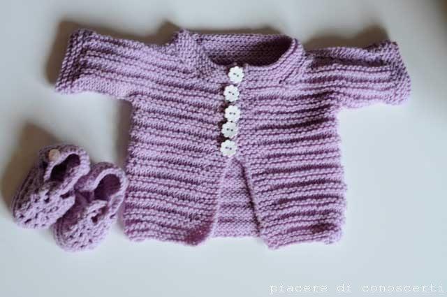 maglioncino neonato facile