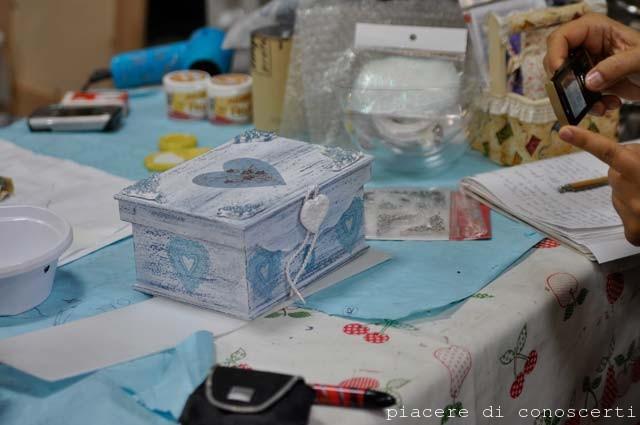 scatola fatta a mano