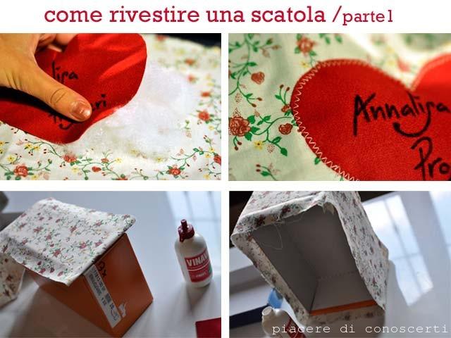 scatola rivestita con il cuore
