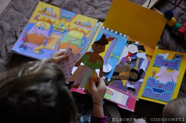 libro vestire bambole di cartone