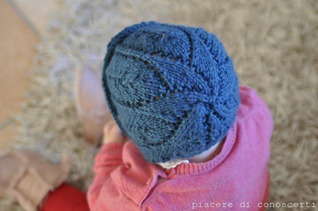 cuffia cappellino a maglia bambini