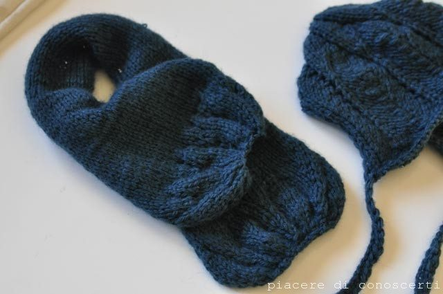 cuffia sciarpa cappellino a maglia bambini