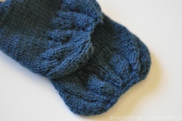 sciarpa a maglia bambini