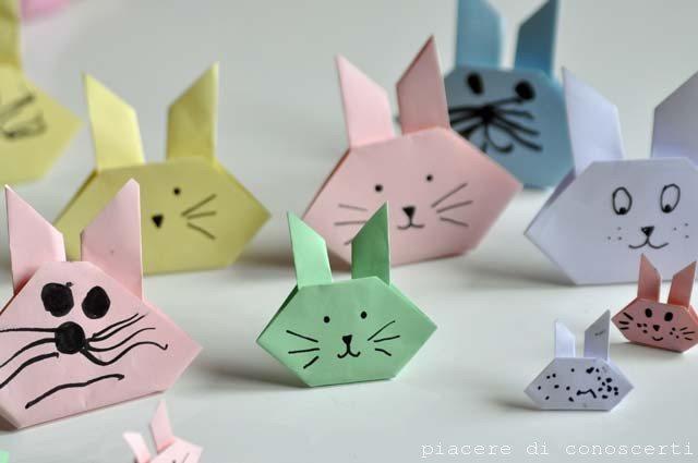 coniglietto origami facile bambini