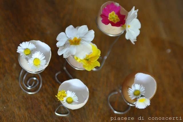 decorare la tavola pasqua fiori