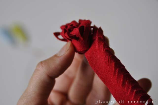 realizzare fiori stoffa