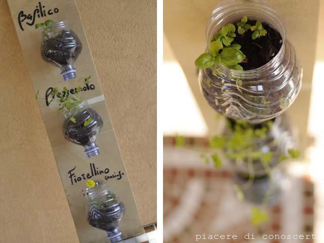giardino verticale riciclo