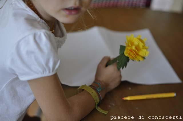 creare fiore per matita
