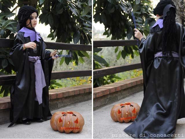 maschera facile bambina halloween