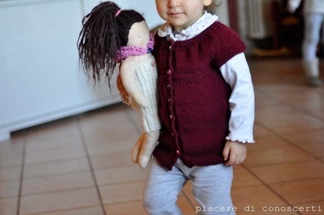 maglia per bambine per principianti