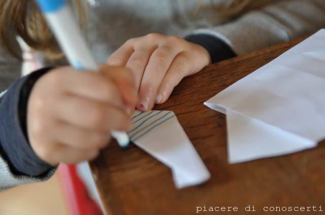 fare una camicia origami con carta