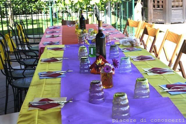 apparecchiare tavolo arcobaleno