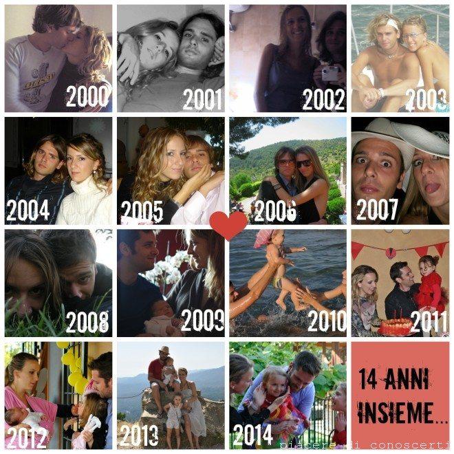 collage 14 anni insieme