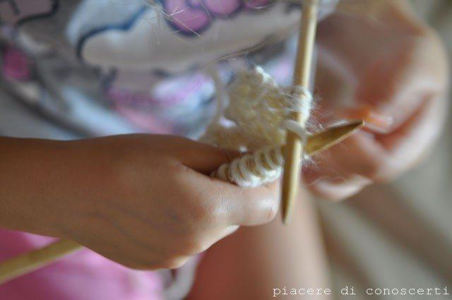 lavorare a maglia bambini