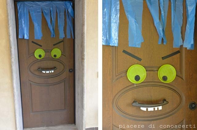 decorazione porta halloween