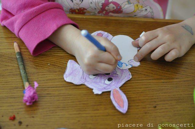 lavoretto facile per pasqua bambini carta