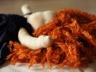 bambola steiner con capelli rossi