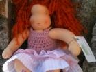 bambola waldorf rossa