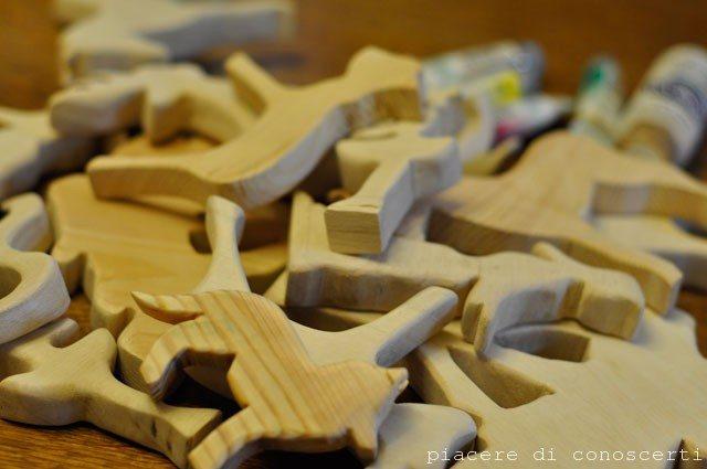 personaggi in legno fatti in casa