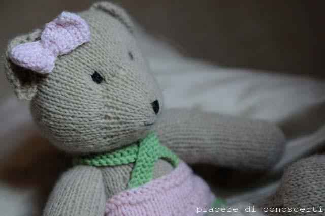 orsacchiotto a maglia