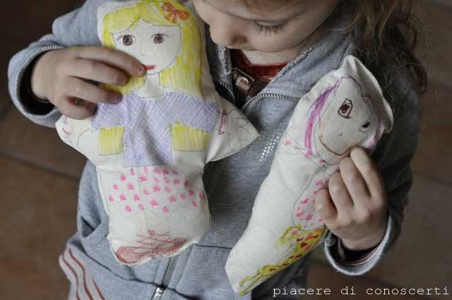 cucire con i bambini bambole