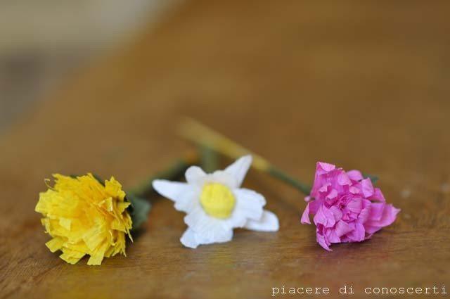 fare fiori con i bambini