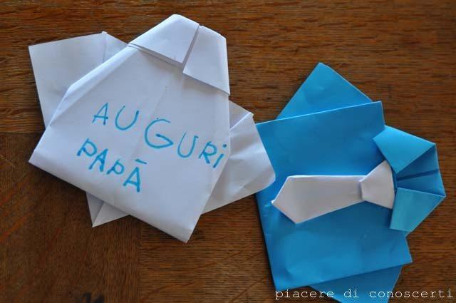 camicia ad origami festa papà