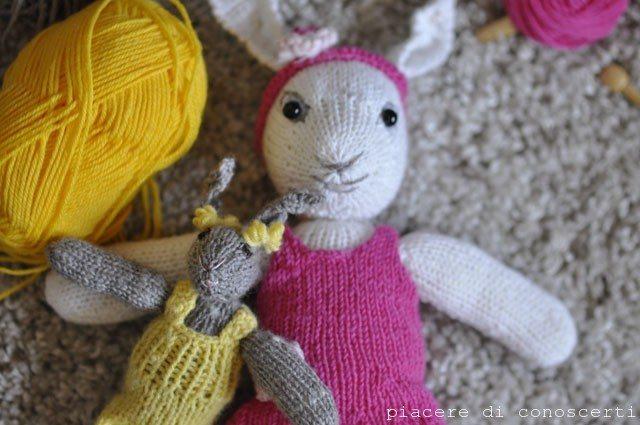 peluches fatti a maglia facili