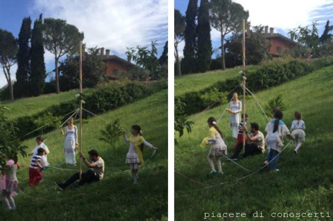palo di maggio beltane bambini